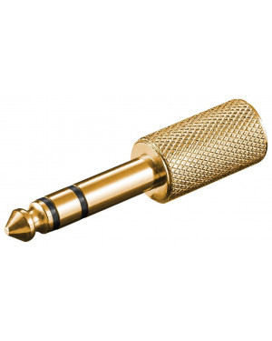 Adattatore audio stereo 6,35 mm a 3,5 mm metallo