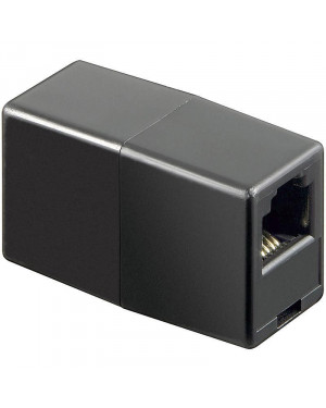Accoppiatore telefonico RJ11 6 poli 4 contatti Pin to Pin F/F Nero
